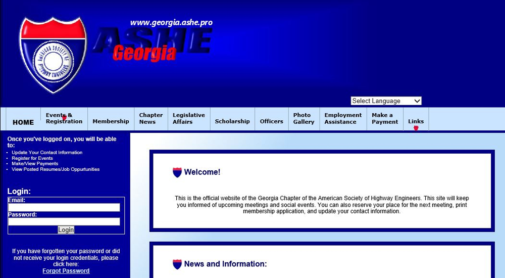 Previous Website